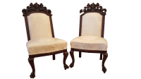 Antique French Baroque Chairs - A Pair | Chairish