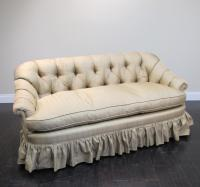Silk Tufted Love Seat | Chairish