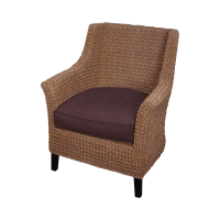 Pottery Barn Seagrass Woven Rope Wingback Chair | Chairish