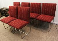 Mid-Century Milo Baughman-Style Chrome Dining Chairs - S/6 ...