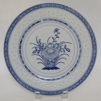 Chinese Porcelain Dinner Plates - Set of 5 | Chairish
