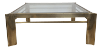Mastercraft Triboli Brass & Glass Coffee Table | Chairish