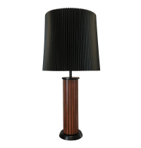 Mid-Century Wood Table Lamp, McCobb Era | Chairish