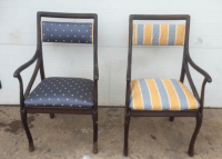 Art Nouveau Style Vintage Chairs - A Pair | Chairish