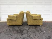 Kroehler Mid-Century Modern Lounge Chairs - A Pair   Chairish