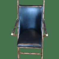 Antique Folding Campaign Chair | Chairish