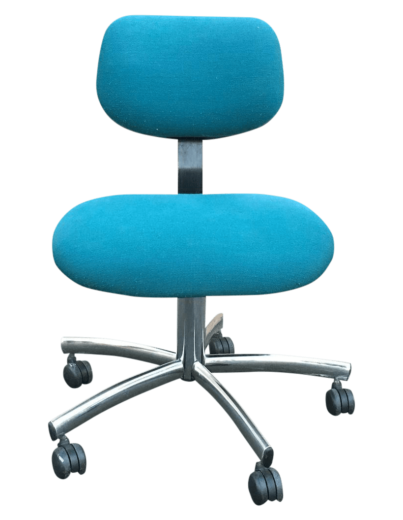 Steelcase Modern Teal Swivel Office Chair  Chairish