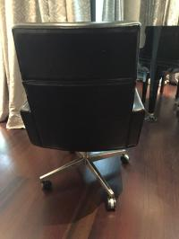 Florence Knoll Leather Executive Chair | Chairish