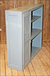 Vintage Solid Wood Distressed Storage Cabinet | Chairish