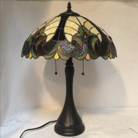 Tiffany Inspired Stained Glass Lamp   Chairish