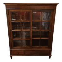 Henley Cherry Sliding Door Book Case