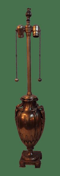 Vintage Marbro Bronze Urn Lamp   Chairish