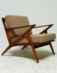 Mid-Century Vintage Z Chair | Chairish