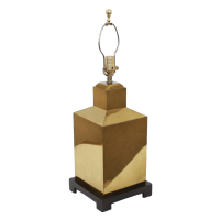 Hollywood Regency Brass Canister Lamp   Chairish