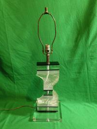 Mid-Century Modern Lucite Helix Table Lamp | Chairish