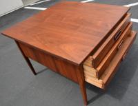 Mid-Century Walnut 3-Drawer Coffee Table | Chairish
