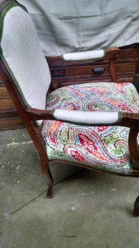 Vintage Louis XV Style Arm Chair | Chairish