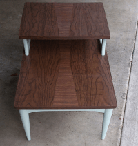 Mid-Century Two Level End Table | Chairish