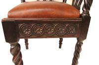 Scottish Chippendale Carved Corner Chair | Chairish