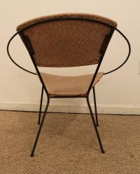 Mid-Century Wrought Iron Circle Chair | Chairish