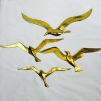 Mid Century Modern Brass Birds Wall Art - Set of 4 | Chairish