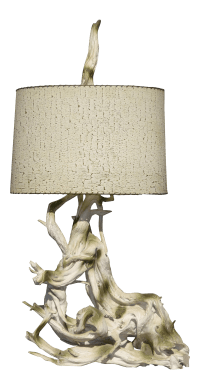 """Mid Century Modern 50"""" Tall White Driftwood Table Lamp ..."""