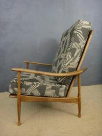 Reupholstered Mid-Century Club Chair | Chairish