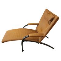 Mid-Century German Reclining Orange Lounge Chair   Chairish