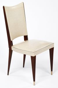 Superb Set of 6 Mid-Century Curved Back Dining Chairs | DECASO