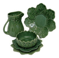 Portuguese Majolica Tableware - Set of 5 | Chairish