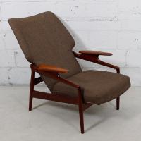 Finn Juhl Reclining Wingback Chair | Chairish