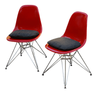 Herman Miller Vintage Shell Chairs- A Pair   Chairish