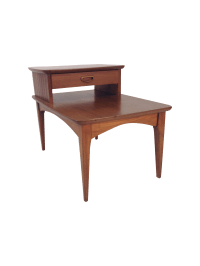Mid-Century Modern Two Tier Side Table | Chairish