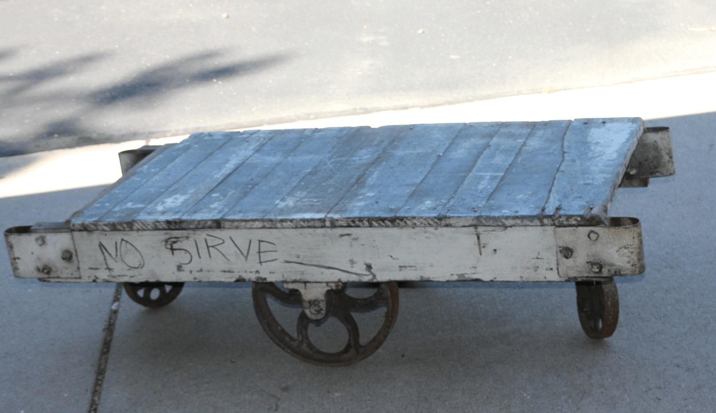Vintage Railroad Cart Coffee Table