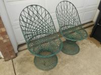 Vintage Spun Fiberglass Patio Chairs - A Pair | Chairish