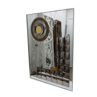 Large Mid Century Modern Mirrored Wall Art | Chairish