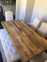 West Elm Reclaimed Wood Dining Table W/Bench & 4 Pottery ...