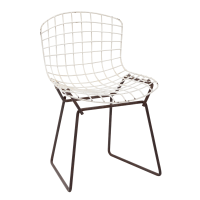 Knoll Bertoia Child Size Chair Black/White