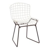 Knoll Bertoia Child Size Chair Black/White | Chairish