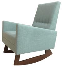 Mid Century Modern Style Nursery Rocking Chair | Chairish