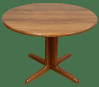 Solid Teak Danish Kitchen Table | Chairish
