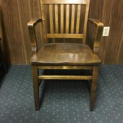 Wh Gunlocke Chair Early Learning Table And Chairs W.h. Co. Vintage Oak Library Office - Set Of 8 | Chairish