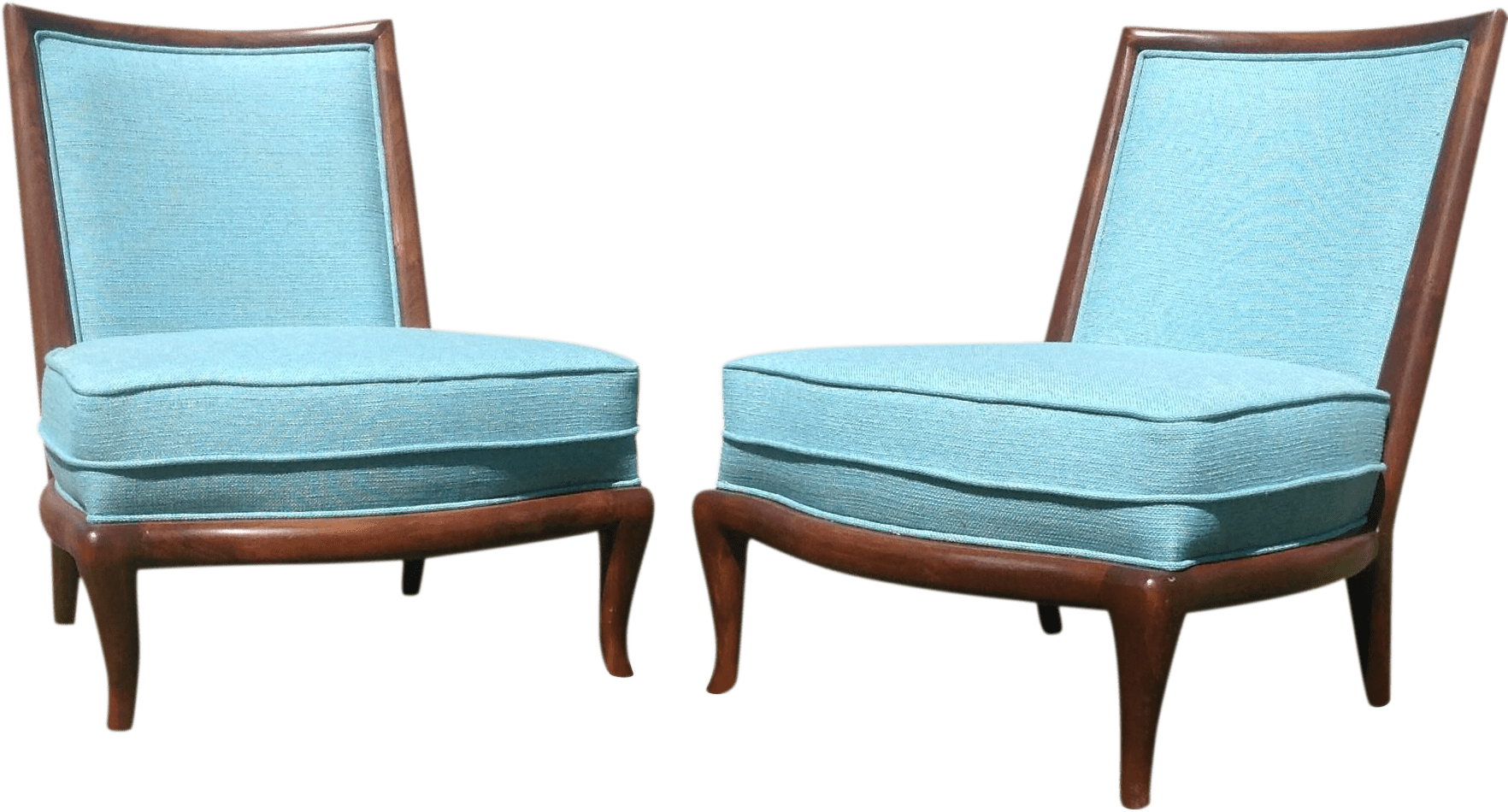 MidCentury Style Slipper Lounge Chairs  A Pair  Chairish