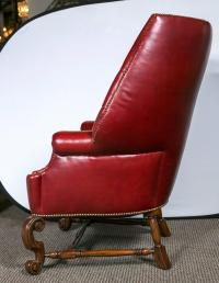 Oversized Tufted Leather Wingback Chairs - Pair | Chairish