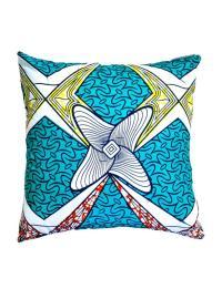 Boomerang Wax Print Pillows - a Pair | Chairish