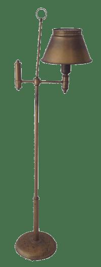 Aged Brass Tole Floor Lamp | Chairish