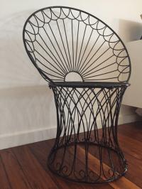 Vintage BoHo Metal Peacock Chair | Chairish