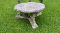 French Rococo Lion Coffee Table Patio Cement | Chairish