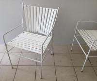 Mid-Century Modern Metal & Vinyl Chairs - S/4   Chairish