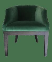Custom Emerald Green Velvet Club Chair | Chairish